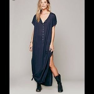 Free People Beach Marrakesh Maxi Dress dark gray